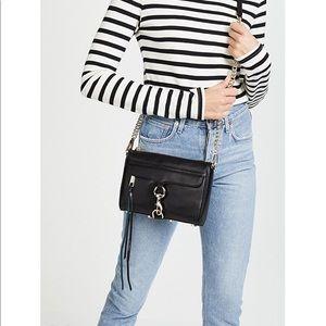 Rebecca Minkoff Mini MAC Crossbody Bag in black